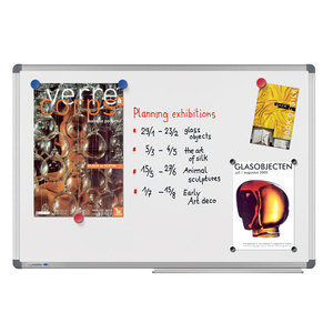 Tabla magnetica LEGAMASTER Universal, 90 x 120 cm, alb