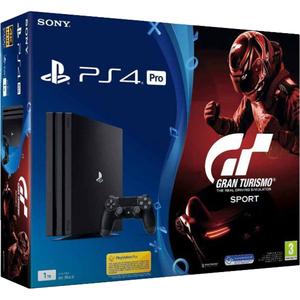Consola SONY PlayStation 4 PRO (PS4 PRO) 1TB, negru + joc Gran Turismo Sport