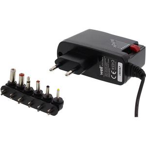 Incarcator universal WELL PSUP-SMP-1500MA/6T-WL, 1.5A, 6 mufe, negru