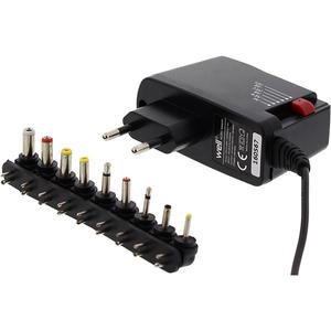Incarcator universal WELL PSUP-SMP-1500MA/9T-WL, 1.5A, 9 mufe, negru
