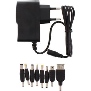 Incarcator universal WELL PSUP-SMP-5V2000MA-WL, AC/DC 5V 2A, 8 mufe, negru