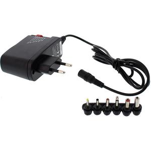 Incarcator universal WELL PSUP-SMP-600MA/6T-WL, 0.6A, 6 mufe, negru