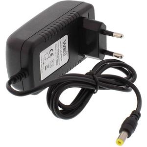 Incarcator universal WELL PSUP-SSP-12V2000MA-W, AC/DC 12V 2A, negru
