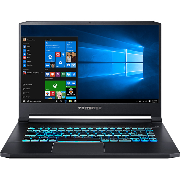 "Laptop Gaming ACER Predator Triton 500 PT515-51-75AX, Intel Core i7-8750H pana la 4.1GHz, 15.6"" Full HD, 24GB, 2 x SSD 512GB, NVIDIA GeForce RTX 2060 6G, Windows 10 Home"