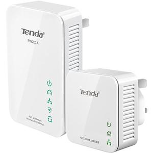 Kit adaptor Powerline TENDA PW201A+P200 Homeplug AV, 200 Mbps, alb