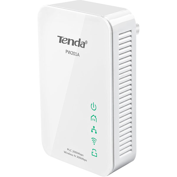 Adaptor Powerline TENDA PW201A Homeplug AV, 200 Mbps, alb