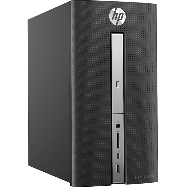 Sistem PC HP Pavilion 570-p017nq, Intel Core i5-7400 pana la 3.5GHz, 8GB, 1TB, NVIDIA GeForce GTX 1050 2GB, Free Dos