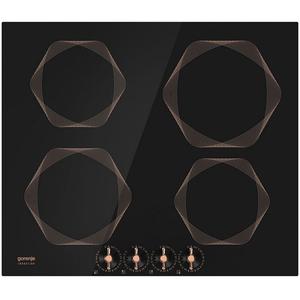 Plita incorporabila GORENJE IC6INB, inductie, 4 zone de gatit, negru cu accente de cupru