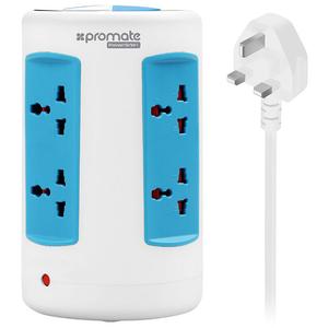 Priza multipla cu protectie PROMATE PowerGrid-1, 6 prize, 4 x USB, alb