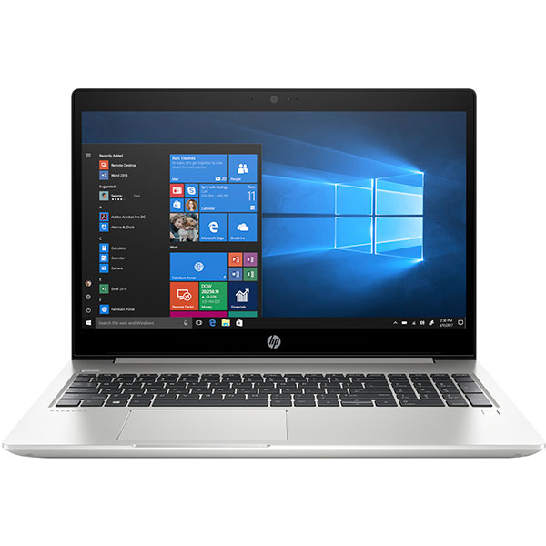 "Laptop HP ProBook 450 G6, Intel Core i5-8265U pana la 3.9 GHz, 15.6"" HD, 8GB, SSD 256GB, NVIDIA GeForce MX130 2GB, Windows 10 Pro, argintiu"