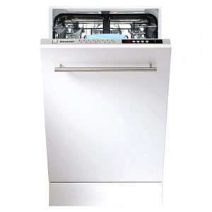 Masina de spalat vase incorporabila SHARP QW-S32I472X, 10 seturi, 8 programe, 45 cm, clasa A++