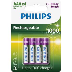 Acumulatori PHILIPS R03B4RTU10/10, AAA, 1000 mAh, 4 baterii