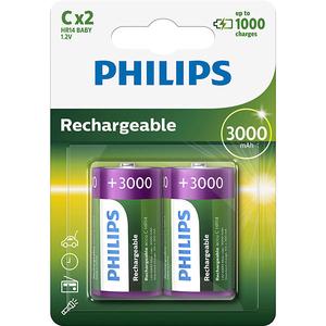 Acumulatori PHILIPS R14B2A300/10, C, 3000 mAh, 2 baterii