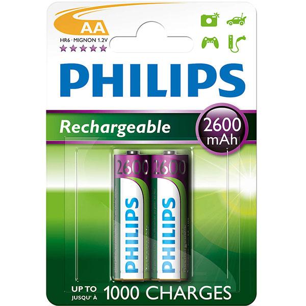 Acumulatori PHILIPS R6B2A260/10, AA, 2600 mAh, 2 baterii