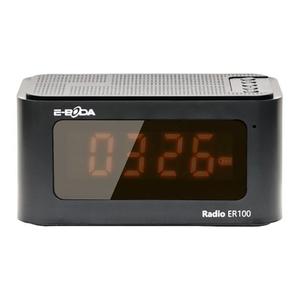 Radio cu ceas E-BODA RADIOER10, FM, negru