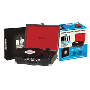 Pick-up portabil DENVER VPB02005 + Colectie 8 discuri Vinil, negru