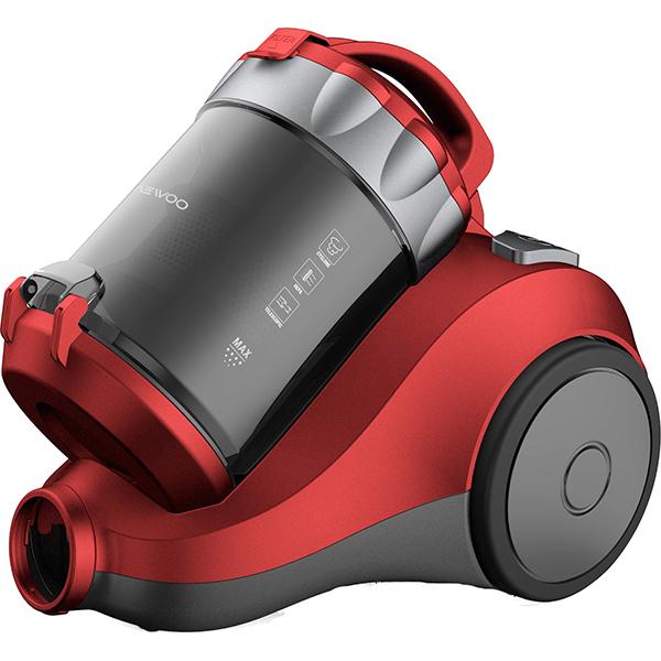 Aspirator fara sac DAEWOO RCC-120R/2A, 2 l, 800 W, rosu