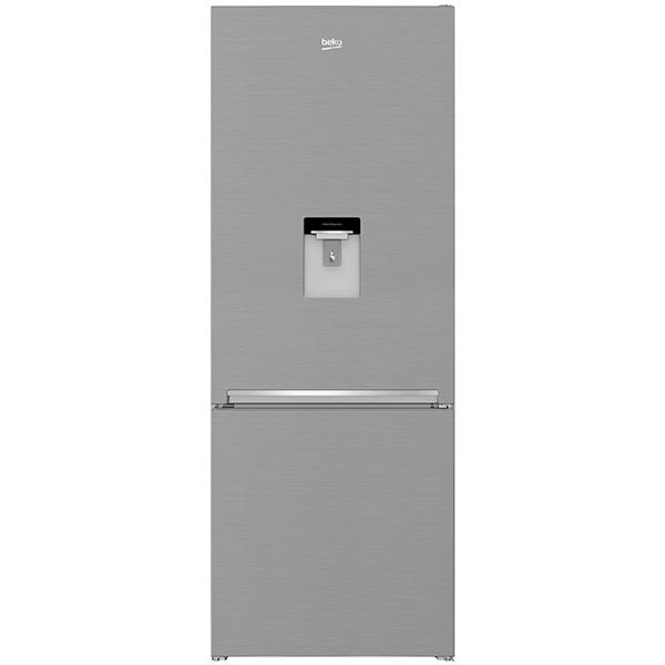 Combina frigorifica BEKO RCNE560I30DXB, No Frost, 497 l, H 192 cm, Clasa A++, dozator apa, argintiu
