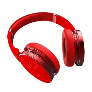 Casti Bluetooth over-ear cu microfon, PROMATE Waves, rosu