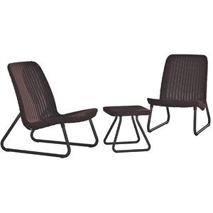 Set mobilier gradina KETER Rio Patio, 3 piese, maro