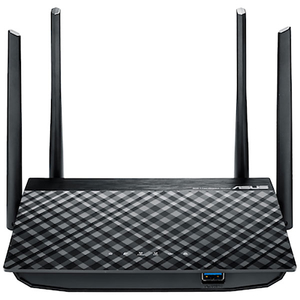 Router Wireless ASUS RT-AC1300G Plus, 400+867 Mbps, Gigabit, USB 3.0, negru