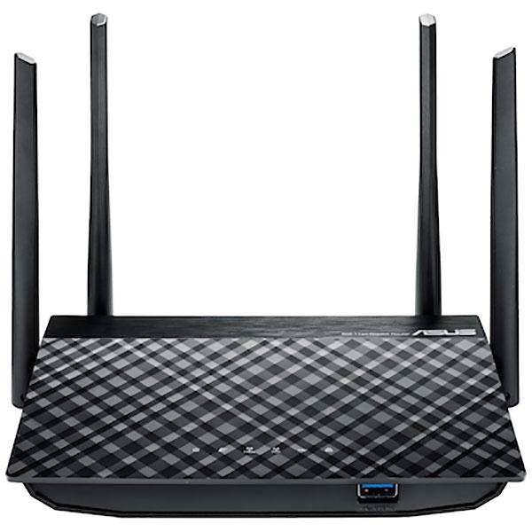Router Wireless ASUS RT-AC1300G Plus, 400+867 Mbps, Gigabit, USB 3.0, negru