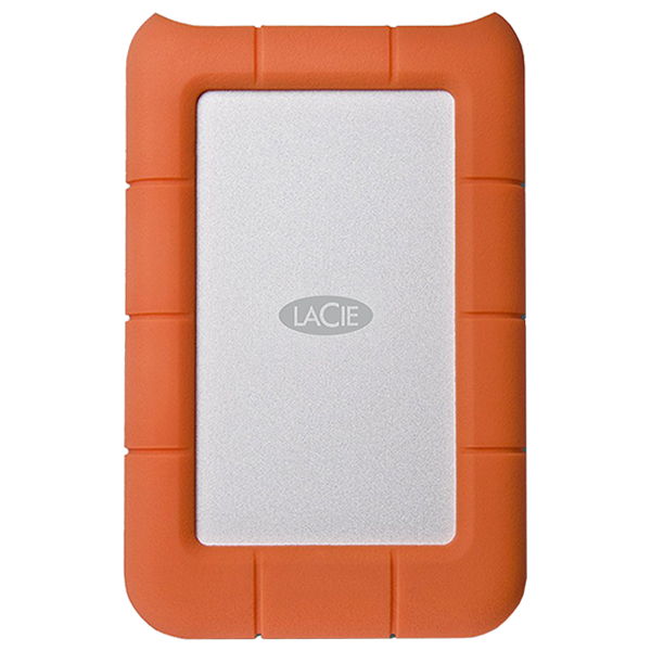 Hard Disk Drive portabil LACIE Rugged Mini LAC9000298, 2TB, USB 3.0, argintiu-orange