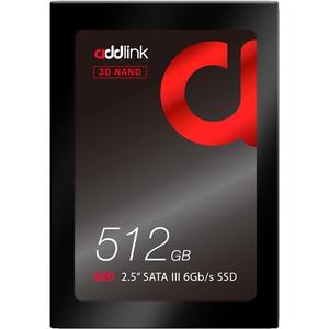 "Solid-State Drive ADDLINK S20, 2.5"", SATA 3, 512GB, 3D NAND FLASH"