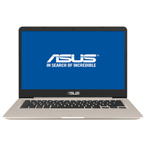"Laptop ASUS VivoBook S406UA-BM012, Intel® Core™ i5-8250U pana la 3.4GHz, 14.0"" Full HD, 8GB, SSD 256GB, Intel UHD Graphics 620, Endless, Gold"