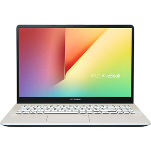 "Laptop ASUS VivoBook S15 S530UF-BQ116, Intel Core i5-8250U pana la 3.4GHz, 15.6"" Full HD, 8GB, SSD 256GB, NVIDIA GeForce MX130 2GB, Endless, Gold"