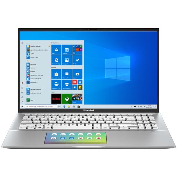 "Laptop ASUS VivoBook S15 S532FA-BQ004T, Intel Core i7-8565U pana la 4.6GHz, 15.6"" Full HD, 8GB, SSD 512GB, Intel UHD Graphics 620, Windows 10 Home, Transparent Silver"