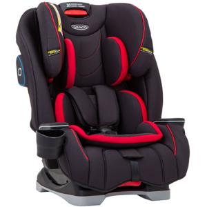 Scaun auto GRACO SlimFit Fiery G8AE999FYREU, 5 puncte, 0 - 36kg, negru-rosu