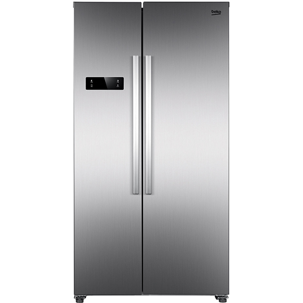 Side by side BEKO GNO4331XP, NeoFrost Dual Cooling, 433 l, H 177 cm, Clasa A++, inox