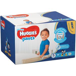 Scutece chilotei HUGGIES 5, Baieti, 12 - 17 kg, 68 buc