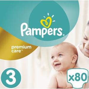 Scutece PAMPERS Premium Care Jumbo Pack 3, Unisex, 5 - 9 kg, 80 buc
