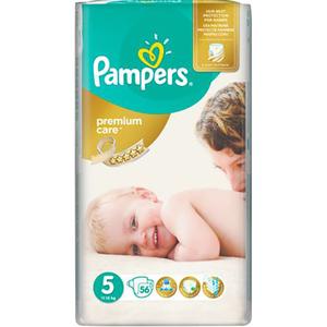 Scutece PAMPERS Premium Care Jumbo Pack 5, Unisex, 11 - 18 kg, 56 buc