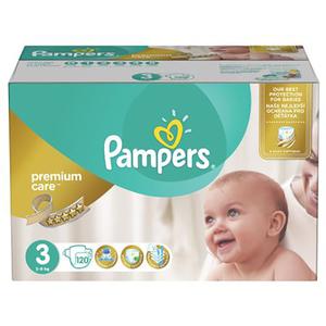 Scutece PAMPERS Premium Care Mega Box 3, Unisex, 5 - 9 kg, 120 buc