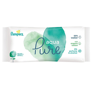 Servetele umede PAMPERS Aqua Pure, 12buc