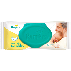 Servetele umede PAMPERS New Baby Sensitive, 54 buc