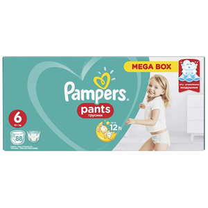 Scutece chilotei PAMPERS Pants Mega Box 6, Unisex, 15 + kg, 88 buc