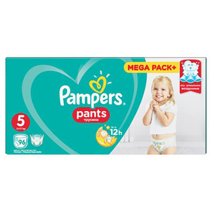 Scutece chilotei PAMPERS Pants Mega Box 5, Unisex, 12 - 18 kg, 96 buc