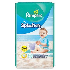 Scutece chilotei pentru apa PAMPERS Splash 3, Unisex, 6 - 11 kg, 12 buc