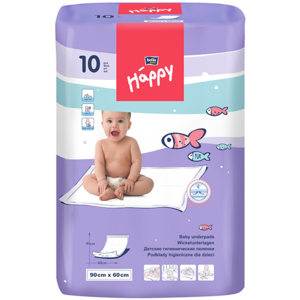 Cearceaf absorbant HAPPY, 90 x 60 cm, 10 buc