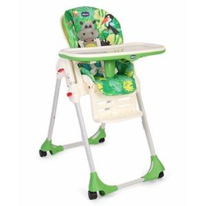 Scaun de masa CHICCO Polly Easy HappyJungle, 6 luni - 3 ani, verde