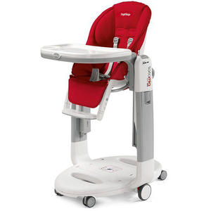 Scaun de masa 3 in 1 PEG PEREGO Tatamia Follow Me Fragola, 0 luni - 3 ani, rosu