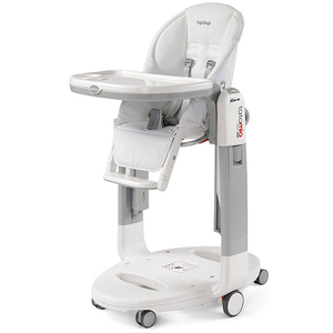 Scaun de masa 3 in 1 PEG PEREGO Tatamia Follow Me Latte, 0 luni - 3 ani, alb