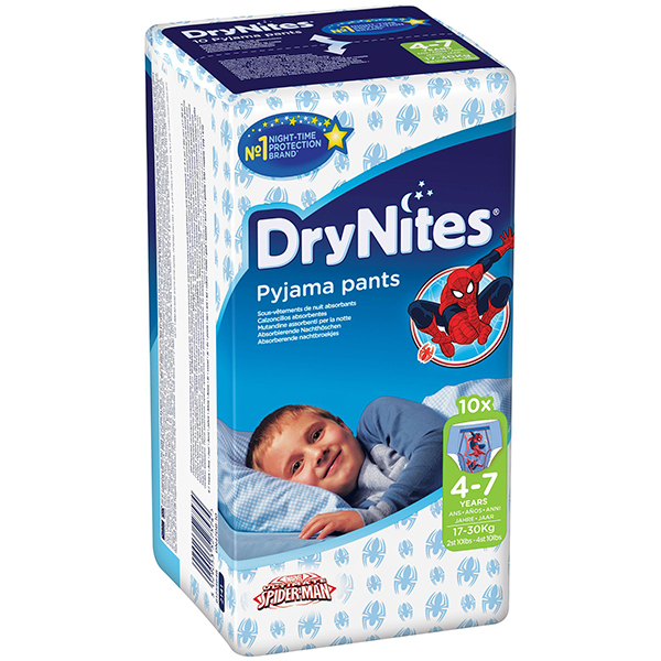 Scutece chilotei HUGGIES DryNites, Baieti, 4 - 7 ani, 17 - 30 kg, 10 buc