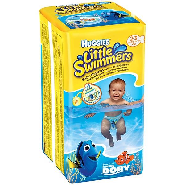 Scutece chilotei pentru apa HUGGIES Little Swimmers 2 - 3, 3 - 8 kg, 12 buc
