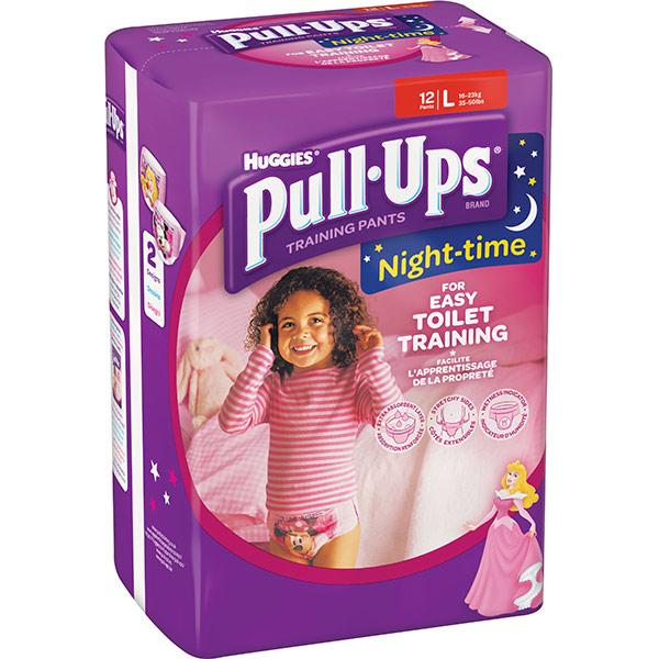 Scutece chilotei HUGGIES Pull-Ups 6/L, Fete, 16 - 23 kg, 12 buc
