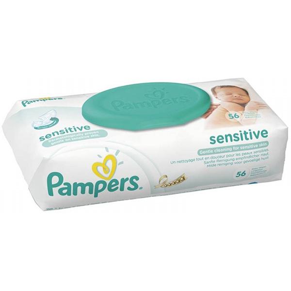 Servetele umede PAMPERS Sensitive, 56 buc
